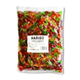 Haribo Gummi Candy, Happy Cherries, 5- Pound Bag (Tamaño: 5- Pound Bag)