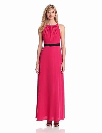 Jill Jill Stuart Women's Sleeveless Crepe Evening Dress, Azalea, 2