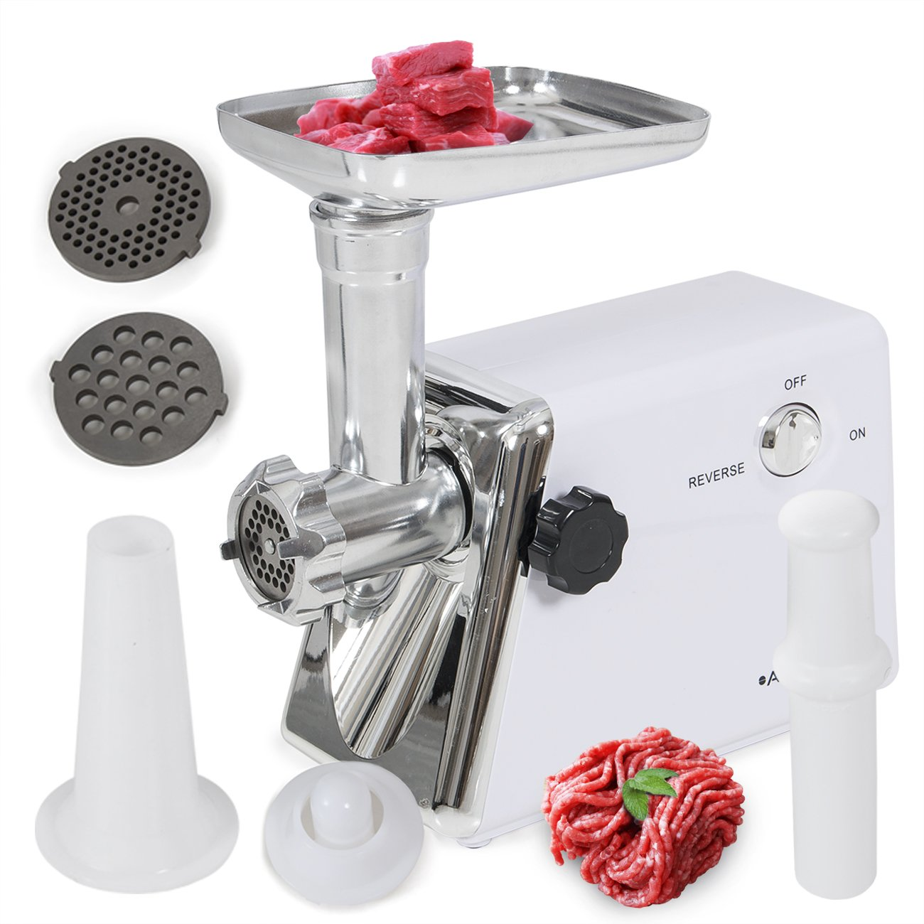 DELLA© 1400 Watt Industrial Electric Meat Grinder Meat Grind Steel (Coarse, Fine & Medium) CE Listed