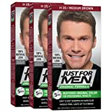 Just For Men Original Formula Men's Hair Color, Medium Brown (Pack of 3) (Color: Medium Brown, Tamaño: Pack of 3)