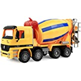 Click N' Play Friction Powered Jumbo Cement Truck Construction Toy Vehicle for Kids
