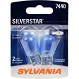 SYLVANIA 7440 SilverStar High Performance Miniature Bulb, (Contains 2 Bulbs)
