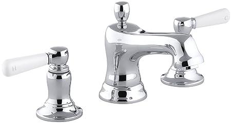 KOHLER K-10577-4P-CP Bancroft Widespread Lavatory Faucet, Polished Chrome