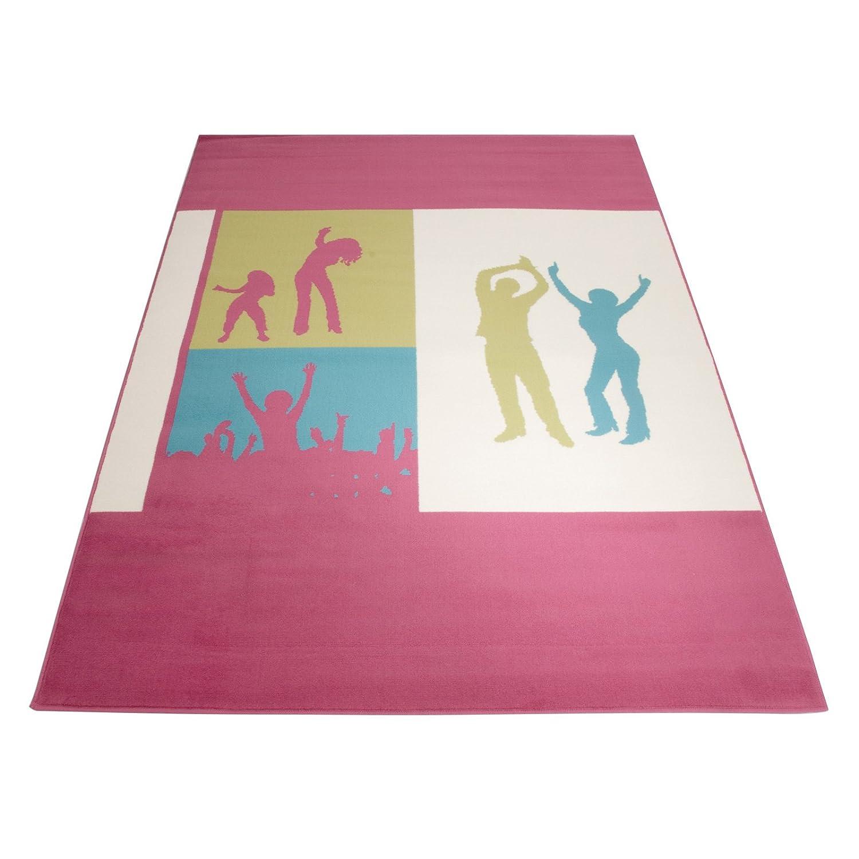 Floori Kurzflorteppich Joy Happy Dance – 160x225cm, pink jetzt kaufen