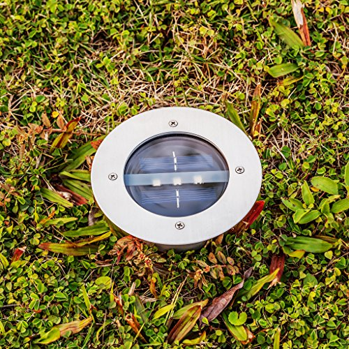 Xtf2015 warm white 2700 3200k solar powered ground light for In ground landscape lighting