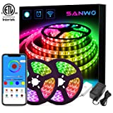 LED Strip Lights - 32.8ft Dream Color LED Light Strip Works with Alexa Google Assistant, SMD 5050 WiFi Flexible RGB Waterproof LED Strip App Controlled, Color Changing Tape Lights Kit for Home Kitchen (Color: Dream color, Tamaño: 32.8ft)