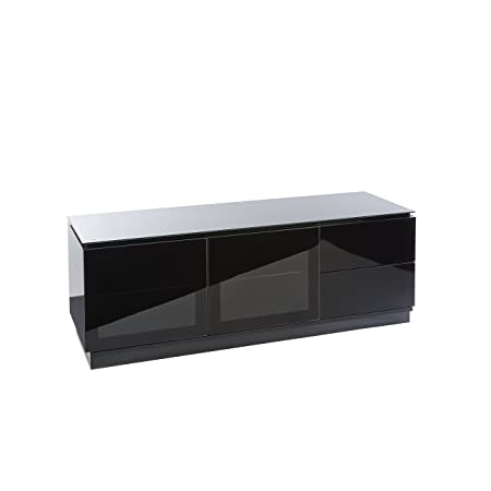 MMT Casino Black Gloss TV stand cabinet with drawers for 32 to 70 inch LCD LED flat screens -Fully Assembled / 2 man home delivery to UK mainland only / No deliveries to BT postcode / Scottish postcodes