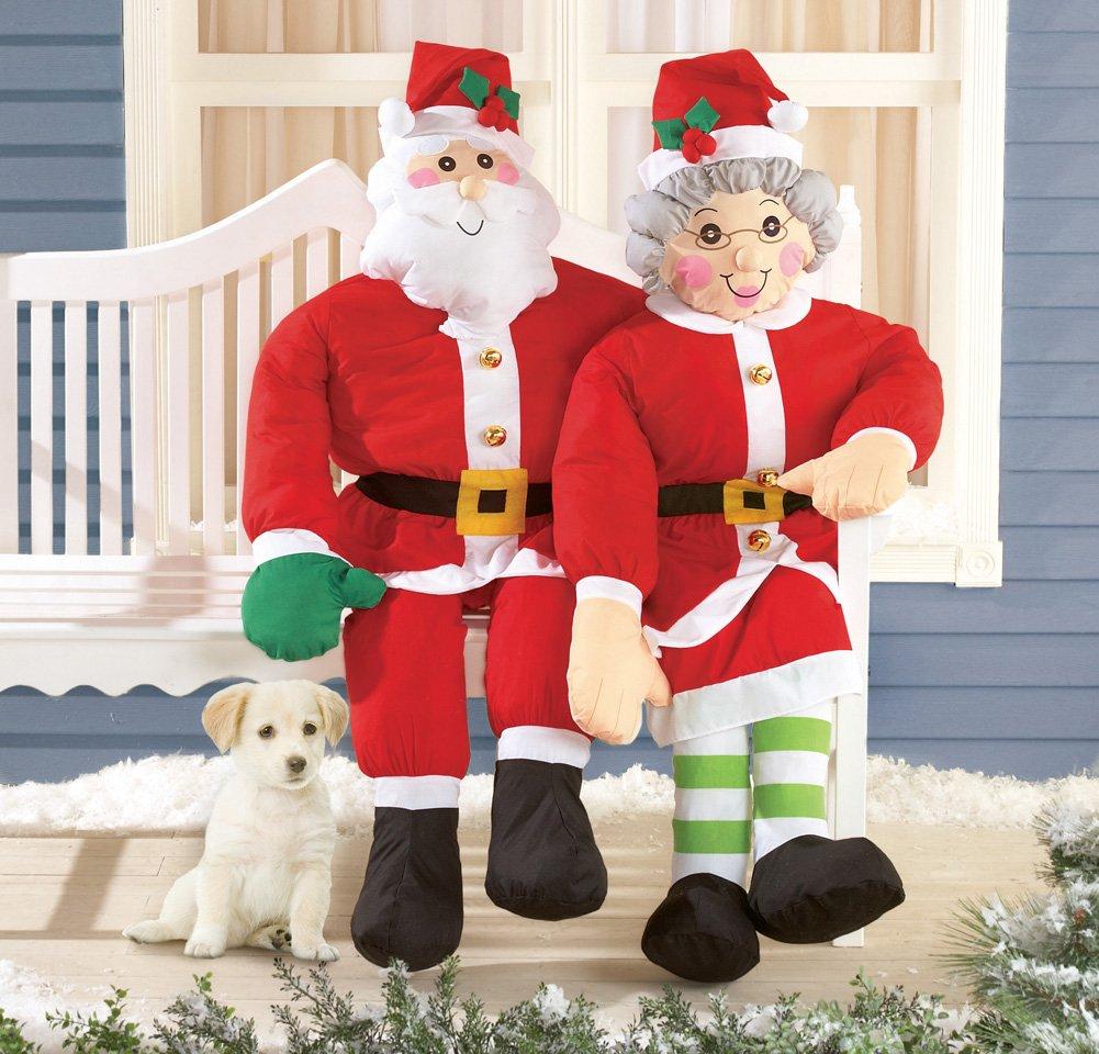 Christmas Decorations Life Size Santa: Santa Claus Outdoor Yard Displays
