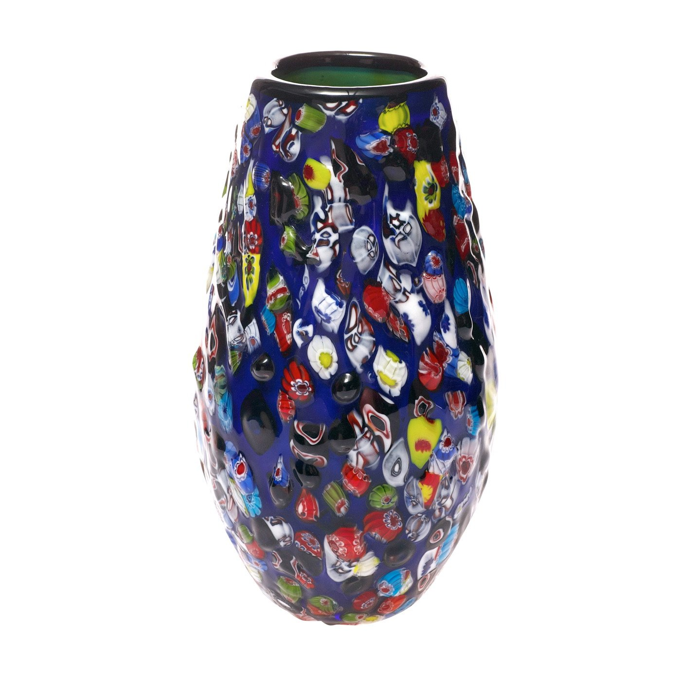 Water Lilies Millefiori Art Glass Vase  image
