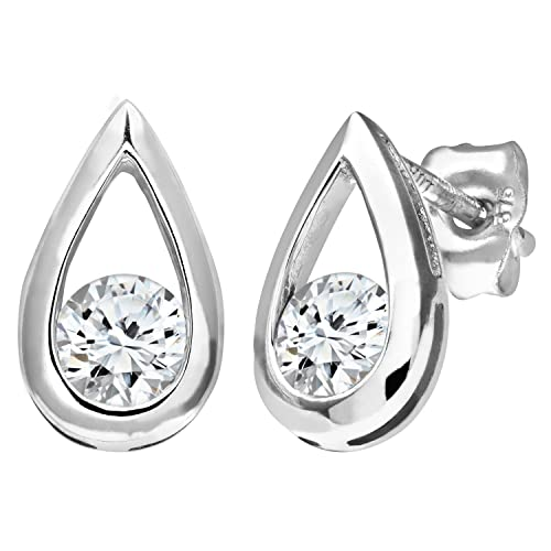 Naava 9ct Half Carat Diamond Teardrop Earrings