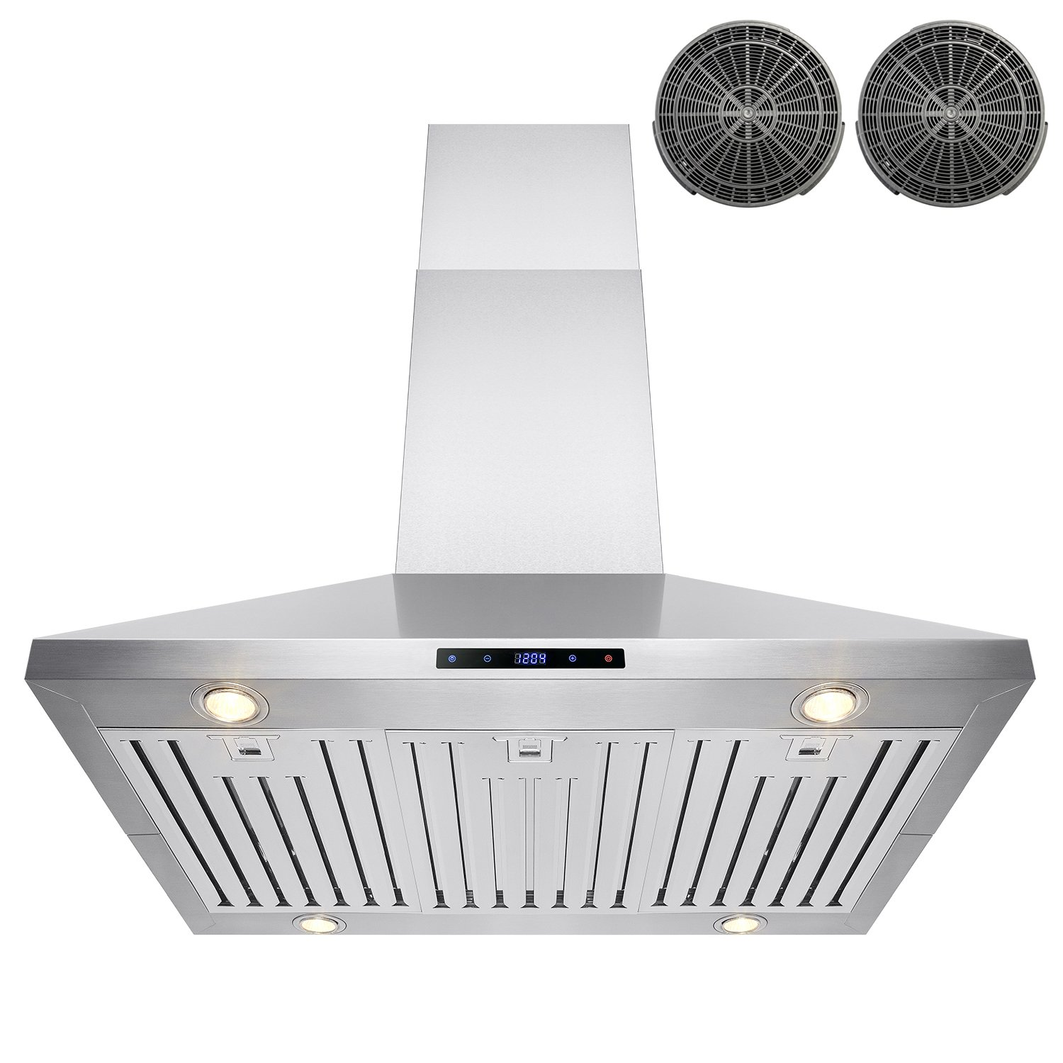 "FIREBIRD 36"" Stainless Steel Island Mount Powerful 870CFM Cooking Fan Kitchen Vent Ductless Range Hood"