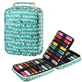 Pencil Case Large Capacity Pen Bag, 150 Colored Watercolor Pencils Maker Organizer with Double Zipper Holder Slots Stationery Storage Pouch for Students & Artist Mandala use School (Bird) (Color: Bird.)