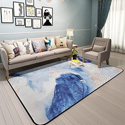 JJDDT Alfombra Diseñador Moderno Simple de primera calidad Alfombra Sala de estar Mesa de centro Dormitorio A la cabecera Rectángulo Alfombra Alfombra más gruesa ( Tamaño : 180*180cm )