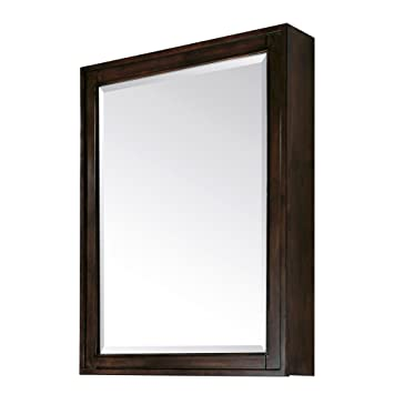 Madison Mirror Cabinet in Light Espresso Finish, 28-Inch by 36-Inch