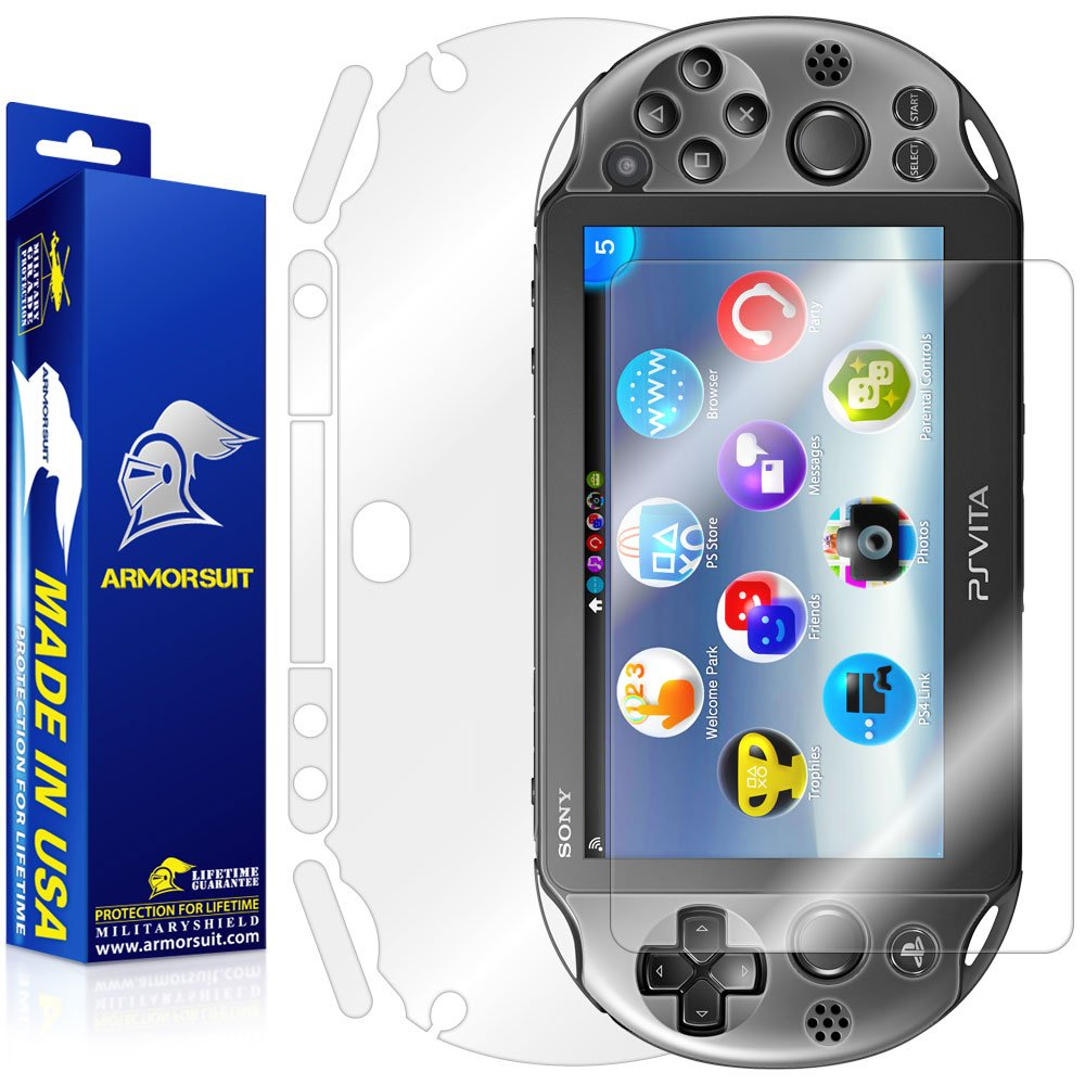 ArmorSuit MilitaryShield - Playstation Vita Slim (2014) Screen Protector + Full Body Skin Protector - Anti-Bubble & Extreme Clarity Shield + Lifetime Replacement