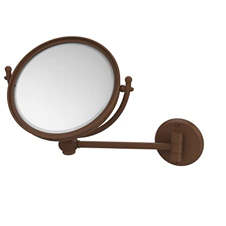 Allied Brass WM-5T/5X-ABZ 8-Inch Wall Mounted Make-Up Mirror with 5x Magnification, Antique Bronze