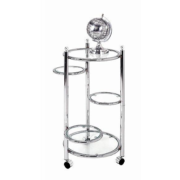 HAKU Möbel 64254 - Portafiori, 78 x 40 cm, colore: Cromo