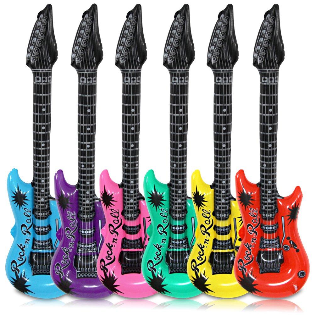 12 x Luftgitarre Luft Gitarre Luftgitarren Aufblasbare als Geschenk