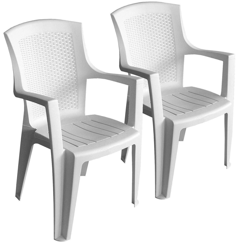 2 st ck stapelstuhl rattan look gartenstuhl gartensessel kunststoff bistrostuhl balkonm bel. Black Bedroom Furniture Sets. Home Design Ideas
