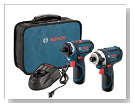 Bosch CLPK27-120 12-Volt Max Lithium-Ion 2-Tool Combo Kit (Drill/Driver and Impact Driver) with 2 Batteries, Charger