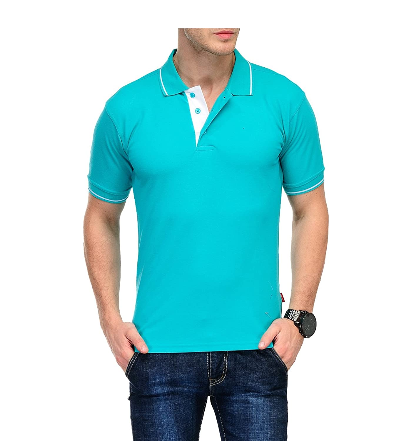 Design your own t shirt india cash on delivery - Scott Men S Premium Cotton Polo T Shirt Electric Green
