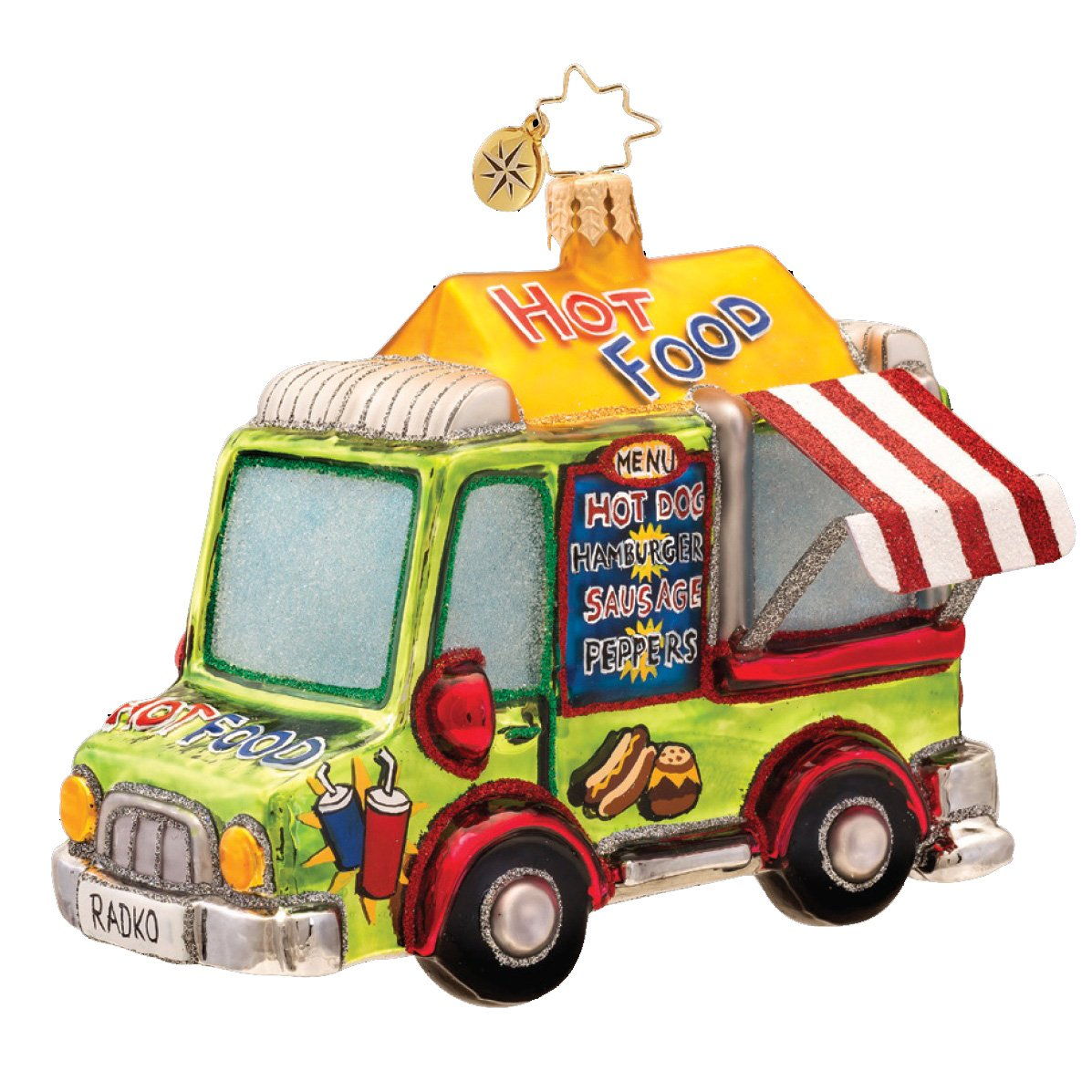 Christopher Radko Food Truck Christmas Ornament