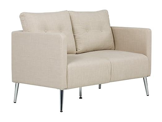 massivum Sofa Melrose 2Sitzer Stoff beige Couch Polstermöbel Wohnmöbel Sitzmöbel