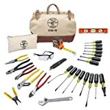 Electrician Hand Tools Set - 28 Piece, Pliers, Screwdrivers, Nut Drivers, Wrenches, More Klein Tools 80028 (Tamaño: one size)