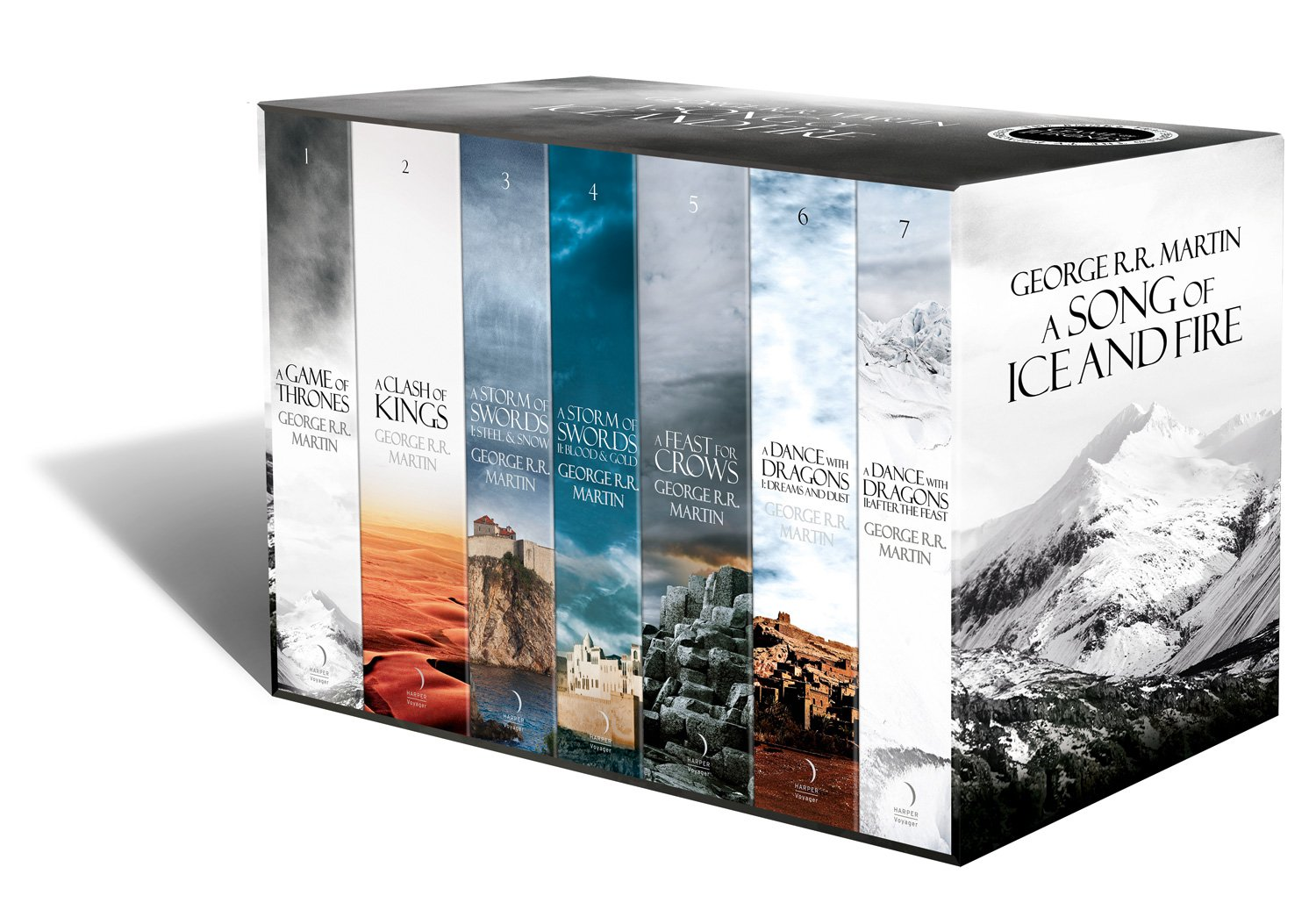 buy a song of ice and fire a game of thrones boxset the story buy a song of ice and fire a game of thrones boxset the story continues set of 7 books book online at low prices in a song of ice