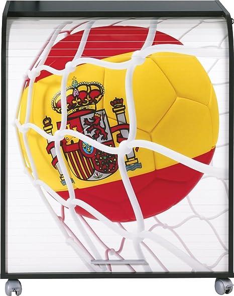 Simmob MUST095NO910 Spagna 910 Pallone Coppa del mondo informatico mobile legno, 53,2 x 79,2 x proprietà al 93,8 cm