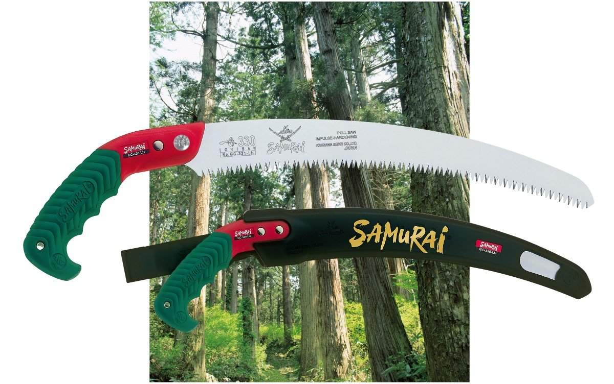 "Samurai Ichiban 13"" Curved Pruning Saw with Scabbard (GC-330-LH)"