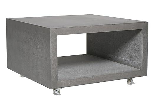 Loungetisch Couchtisch Betontisch fahrbar Betonmöbel