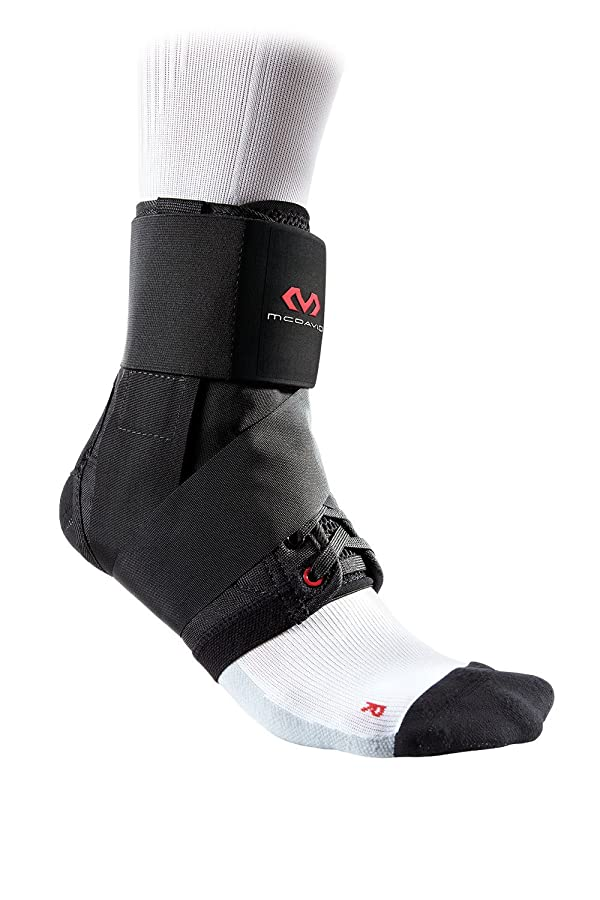 McDavid 195 Deluxe Ankle Brace with Strap (Black, Small) (Color: Black, Tamaño: Small)