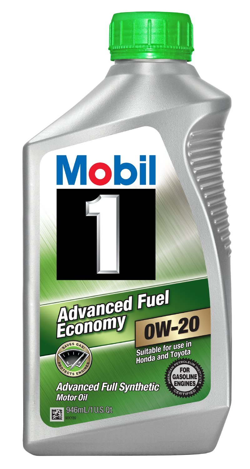 Mobil 1 96995 0W-20 Synthetic Motor Oil - 1 Quart (Pack of 6)