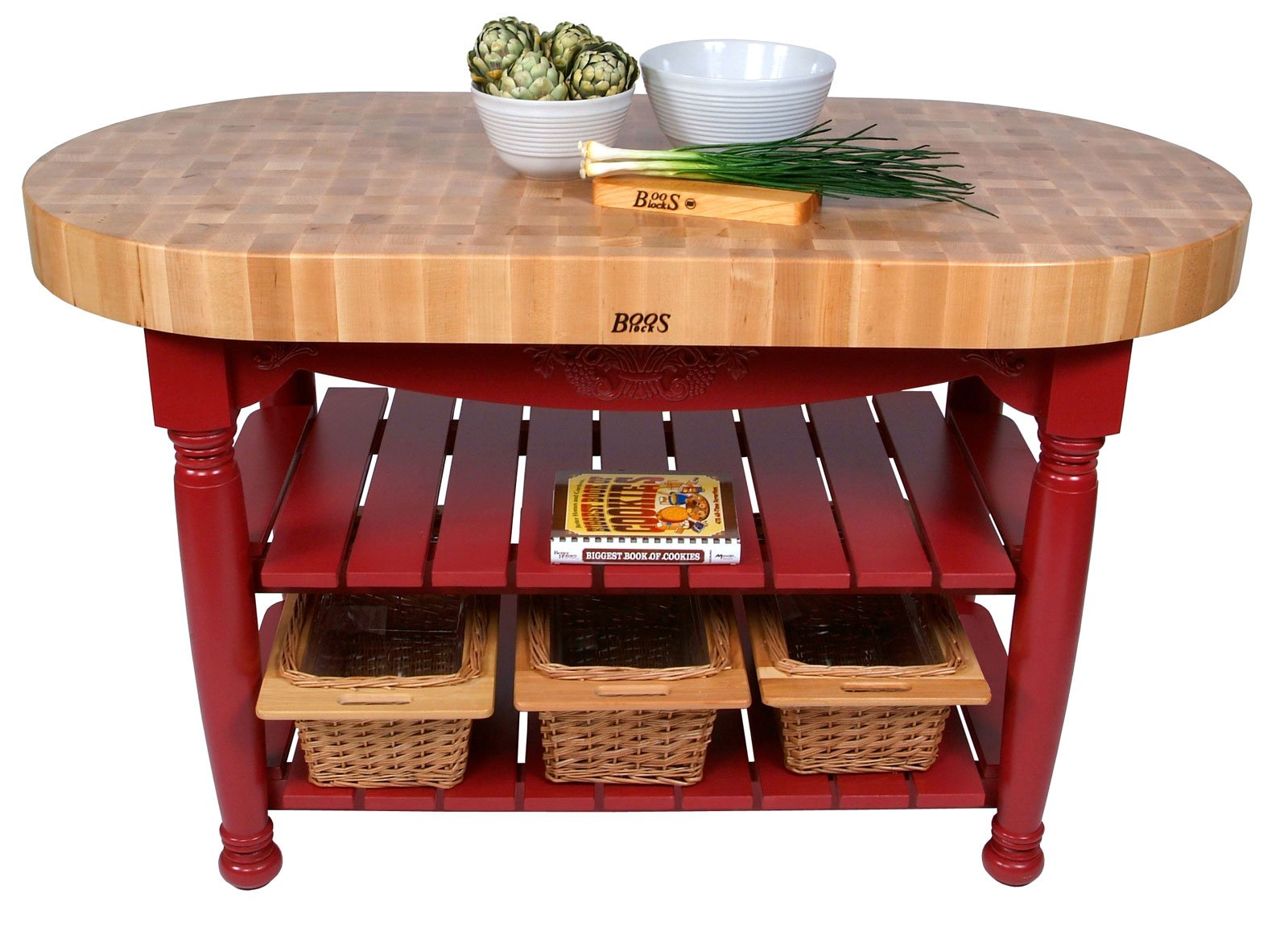 Harvest Table Kitchen Island Useful Gray Stain 36 H X