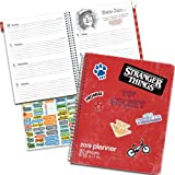 Stranger Things Weekly Planner 2019 Set - Deluxe Stranger Things Weekly Monthly Planner Bundle with DateWorks Calendar Stickers (8.5 x 11 Inch Large Format, Spiral Bound; Office Supplies) (Color: Stranger Things, Tamaño: Deluxe Weekly Planner)