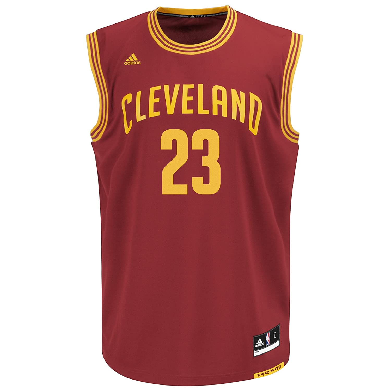 NBA Cleveland Cavaliers, LeBron James, Replica Road Youth Jersey, Large, Burgundy adidas adidas fc chelsea replica jersey
