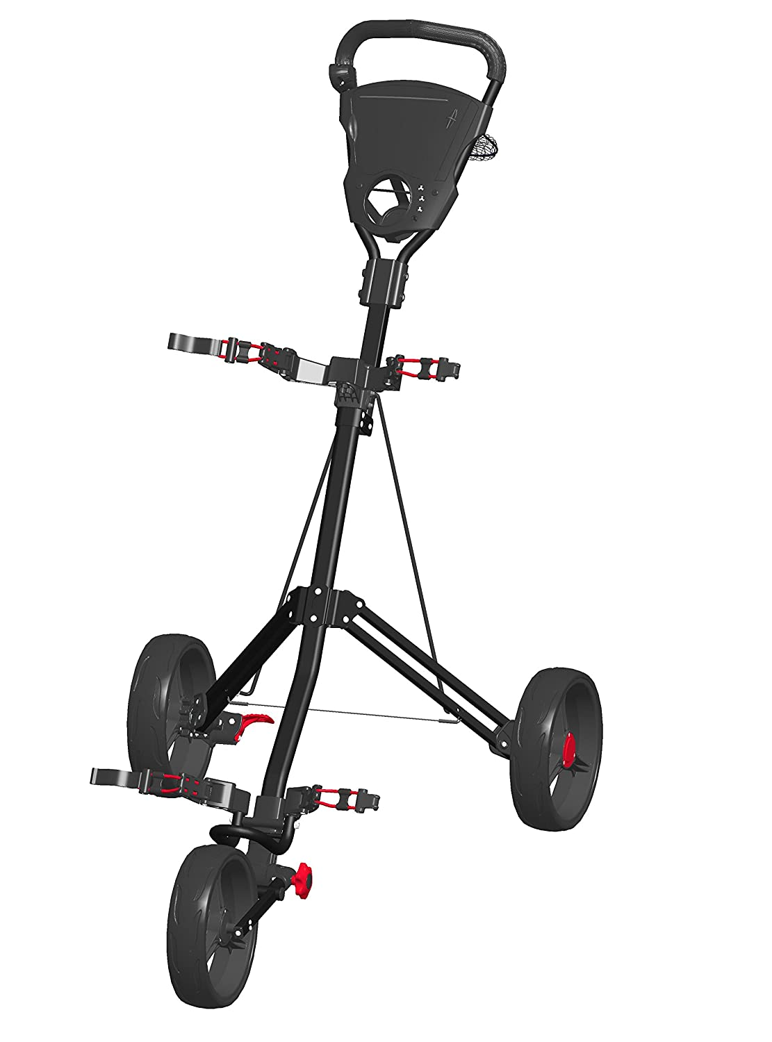 Spin It Golf Products Easy Roll Push Cart, Black шапка true spin true spin tr014cuyrw26