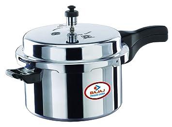 Bajaj Majesty Pressure Cooker with Outer Lid, 2 Litres, Sliver