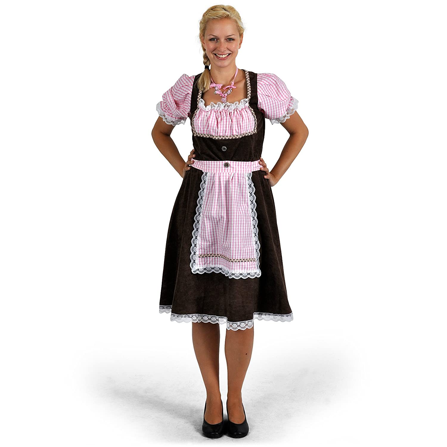 traditional german womens dress with elegant type in