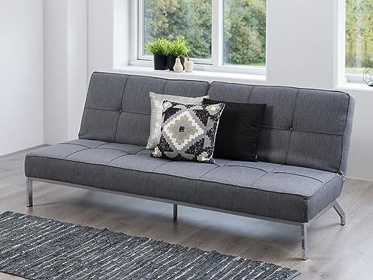 "Bettcouch Couch Sofa Bettsofa Sofabett Schlafcouch Bett Stoff grau ""Pero II"""