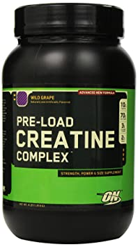 Optimum Nutrition Pre-Load Creatine Complex, Wild Grape, 4 Pound