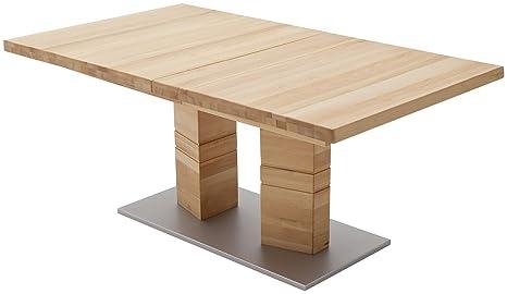 Robas Lund Cuneo a rettangolare teilmassiver Tavolo da pranzo, legno massello, MDF - DURAME di faggio, 140 x 90 x 77 cm