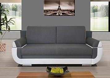 3er Sofa Hector mit Staukasten und Bettfunktion - Abmessungen: 204 x 90 cm (B x T)