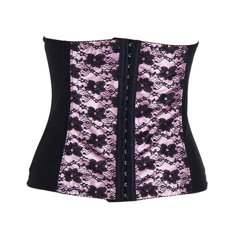 LINGERIE: Korsett underbrust – zur der Verringerung der Taille und Oberkörper – mit Spitze bestickt –  pink – online bestellen