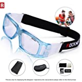 ROCKNIGHT Sports Goggles Safety Glasses Adjustable Eyewear for Basketball Football Volleyball for Adults Light Blue#L001 (Color: light blue, Tamaño: L001)