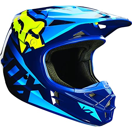 Casque Motocross Fox 2016 V1 Race Bleu-Jaune