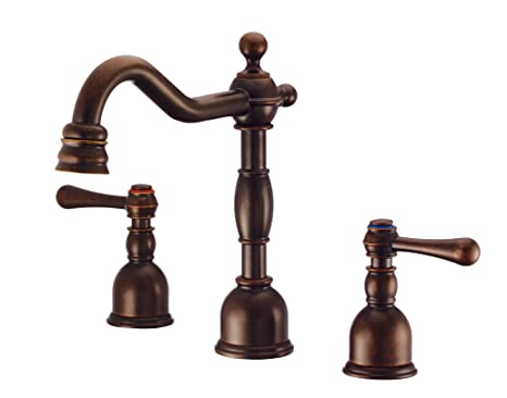 Danze D303057BR Opulence Two Handle Mini-Widespread Lavatory Faucet, Tumbled Bronze