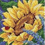 Dimensions Needlecrafts Needlepoint, Sunflower And Ladybug