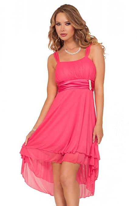 Hot from Hollywood Women's Sleeveless Sheer Gathered Satin Layered Dress